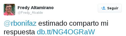 Fredy Altamirano responde