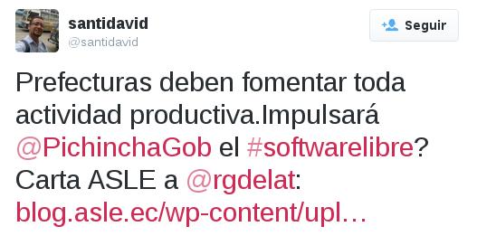 Tuit a Rodrigo Gómez de la Torre