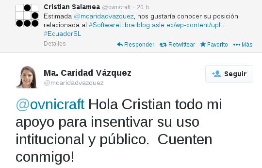 Tuit María Caridad Vázquez
