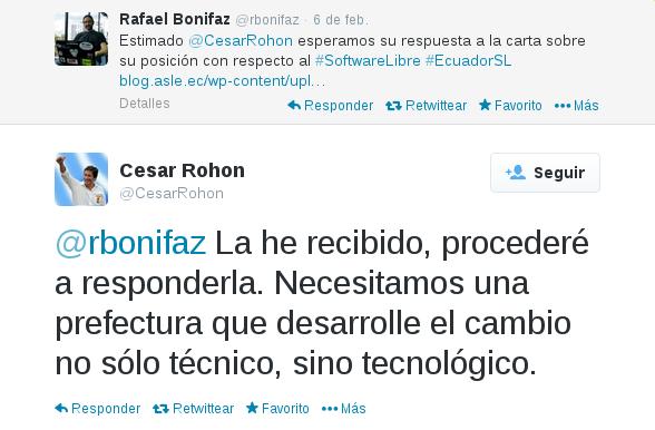 César Rohón ofrece responder